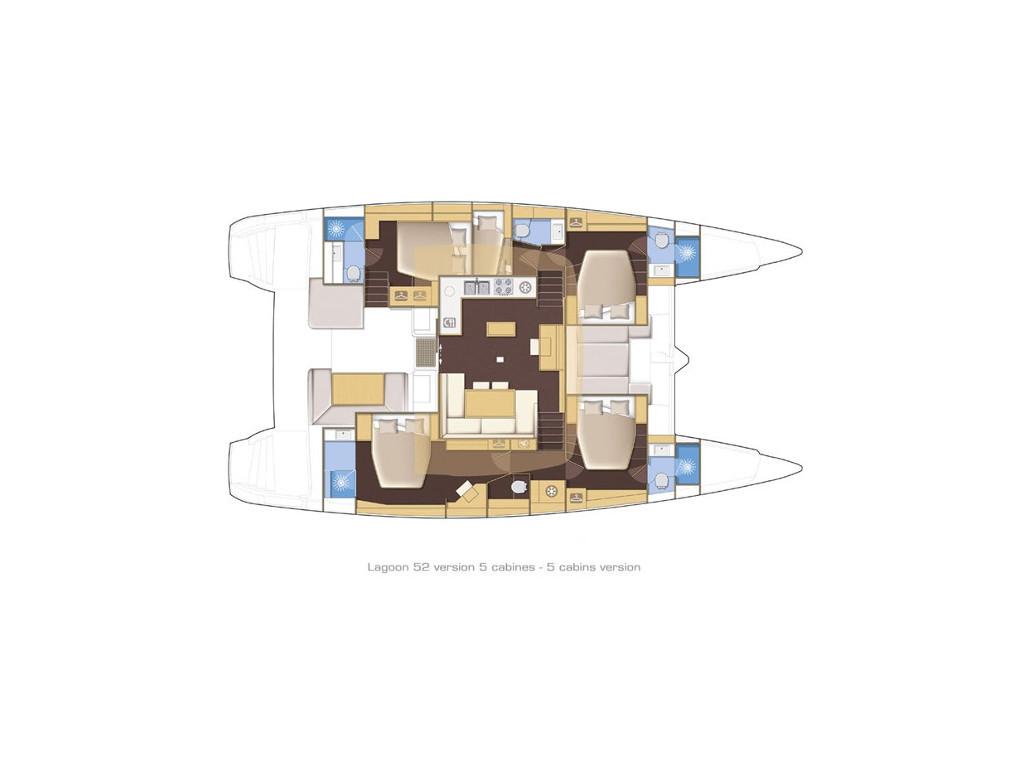 Lagoon 52, Floramye- CREWED